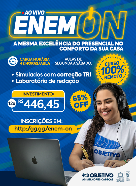 CURSO ENEM ON - 100% REMOTO